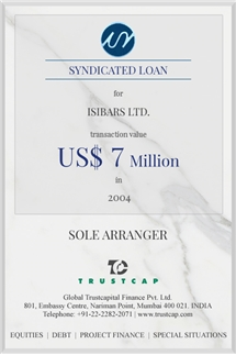 Syndicated Loan of Project & Structured Finance for Isibars Ltd.