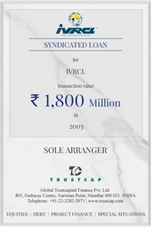 Syndicated Loan of Project & Structured Finance for IVRCL