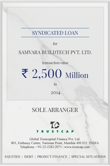 Syndicated Loan of Project & Structured Finance for Samvara Buildtech Pvt. Ltd.