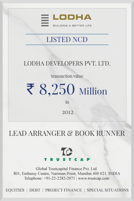Listed Bonds of Capital Markets - ECM & DCM for Lodha Developers Ltd.
