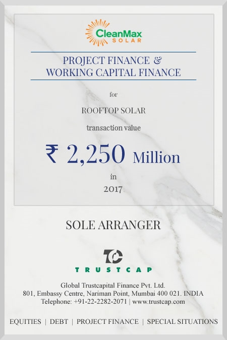 Project Finance & Working Capital Finance of Project & Structured Finance for Rooftop Solar